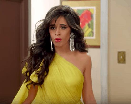 Camila's yellow dress look in Havana