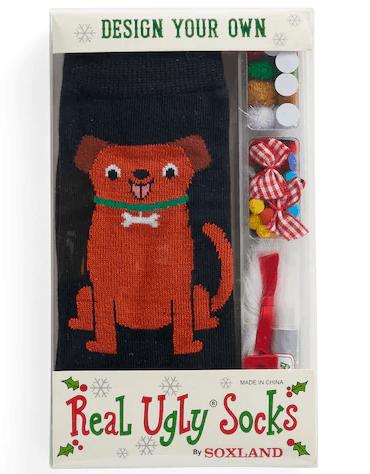 Design Your Own Ugly Socks Kit - Secret Santa gift idea