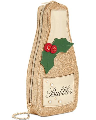 Champagne bubbles clutch bag - secret santa gift