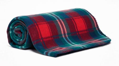 Cozy plaid blanket for secret santa gift