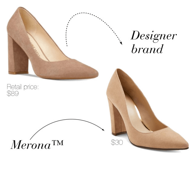 Target designer shoe dupes: Merona version of Nine West block heel pumps