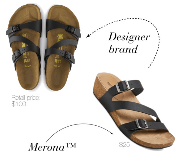 Designer shoe dupes at Target: Merona version of Birkenstocks