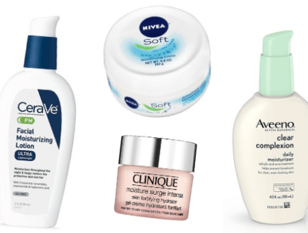 Best winter moisturizers: CeraVe facial moisturizing lotion, Nivea soft lotion, Clinique moisture surge intense skin hydrating lotion, aveeno clear complexion daily moisturizer