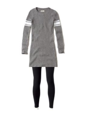 Shorter dress and leggings