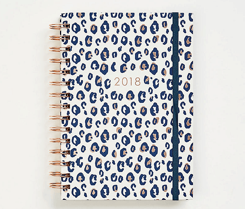 Best 2018 planners and agendas: Rose gold leopard planner