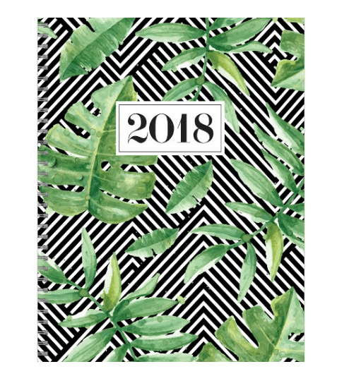 Best 2018 planners and agendas: Palm tree print planner
