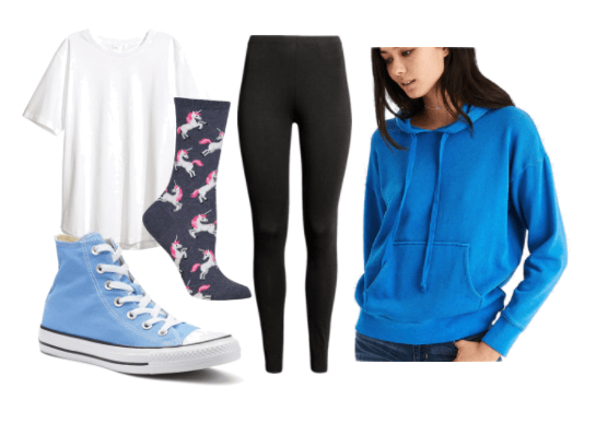 An outfit of mood-boosting clothes