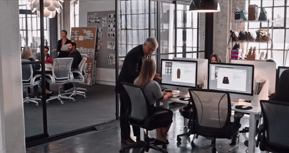 The office in the movie The Intern: Internship success tips
