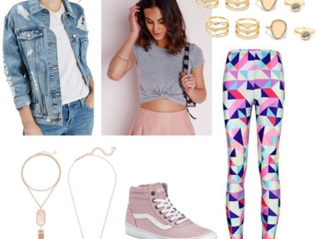 Outfit inspired by the Seapunk trend