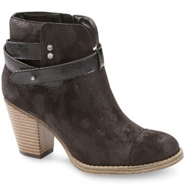 Sears microsuede ankle boots