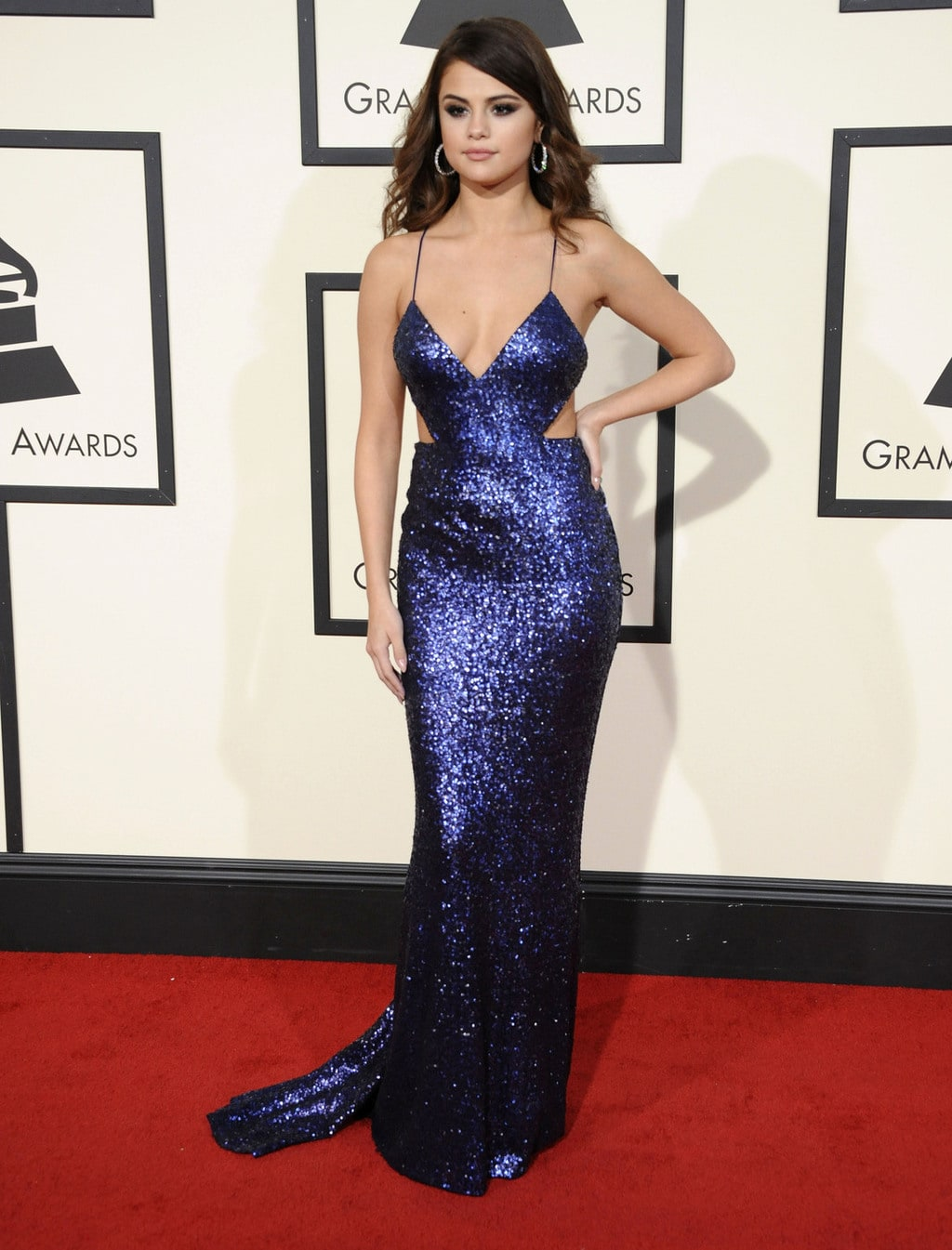 Selena Gomez in Calvin Klein Collection at the 2016 Grammy Awards