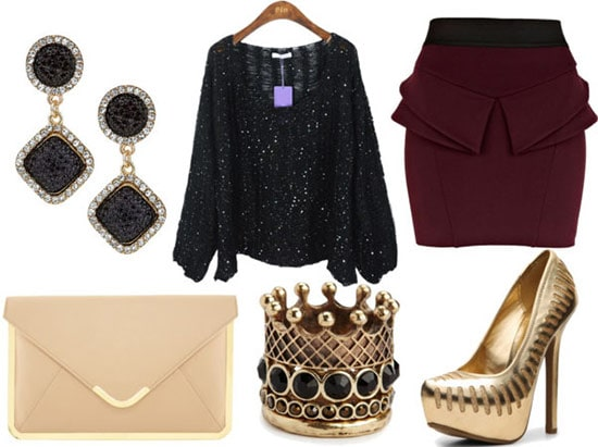 how to wear a sequin sweater for night