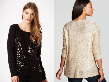 sequin sweaters