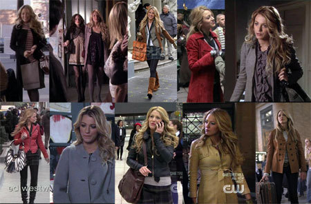 Serena Van Der Woodsen's Jackets on Gossip Girl