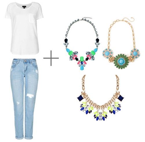 Set of statement necklaces
