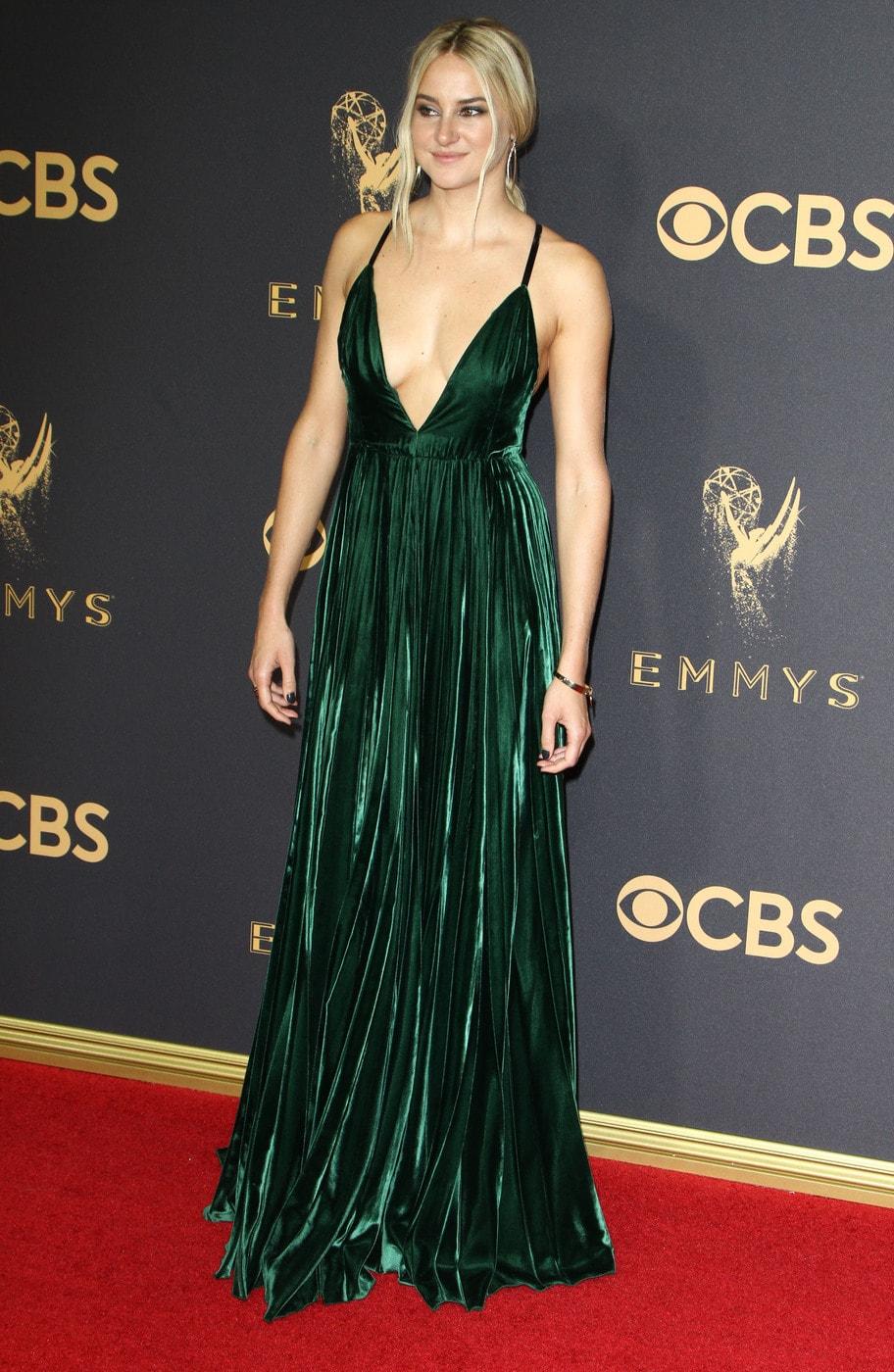 Shailene Woodley in Ralph Lauren at the 2017 Emmys
