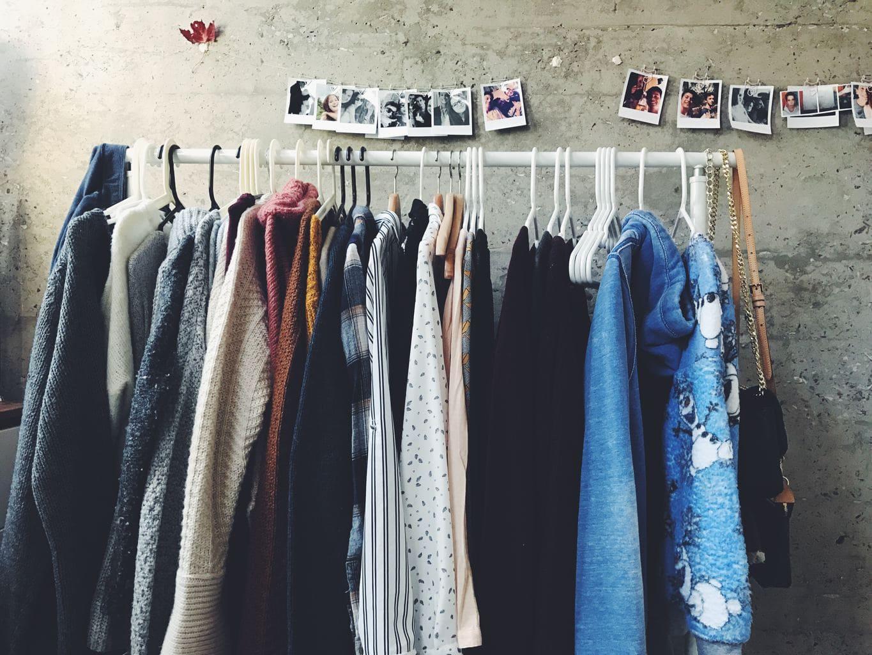 Closet of clothes