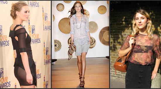 sheer fashion trend