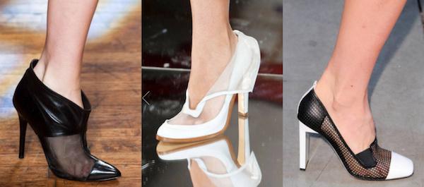 Sheerblocked heels trend