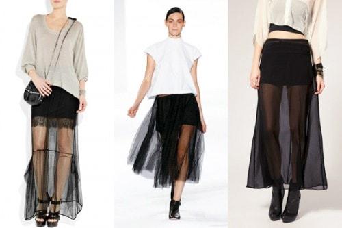 More sheer maxi skirts