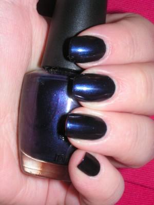 Shimmer nail polish example