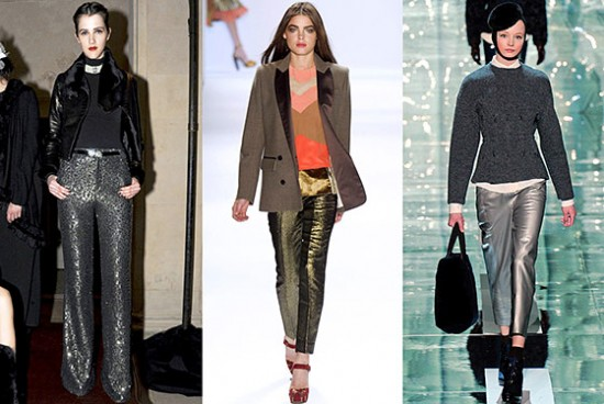 Metallic Pants on the Runway