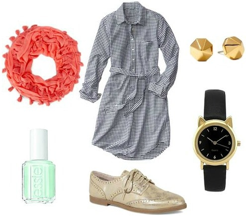 Shirtdress business casual outfit