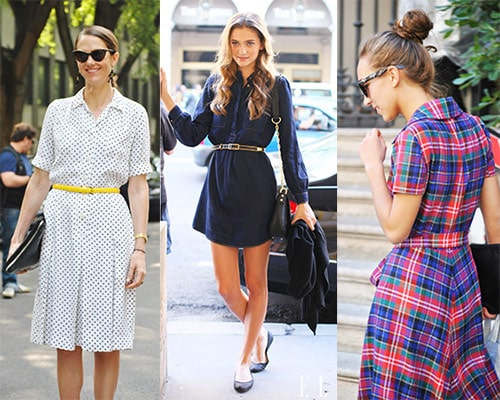 Shirtdresses - street style outfits