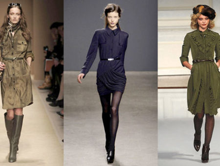 Shirtdresses on the runway