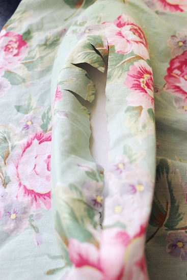 DIY floral flats: Step 3