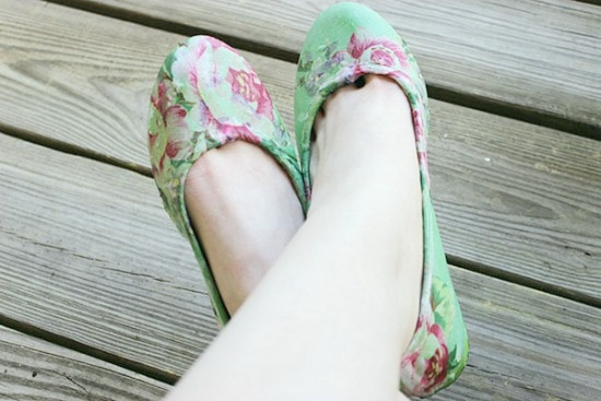 DIY floral flats: Finished product