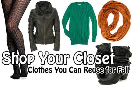 Shop your closet for fall