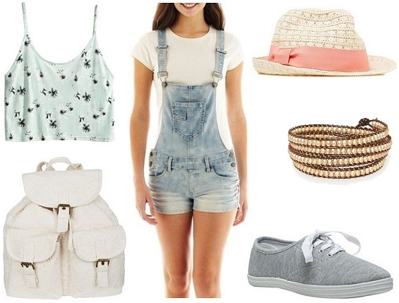Short overalls outfit