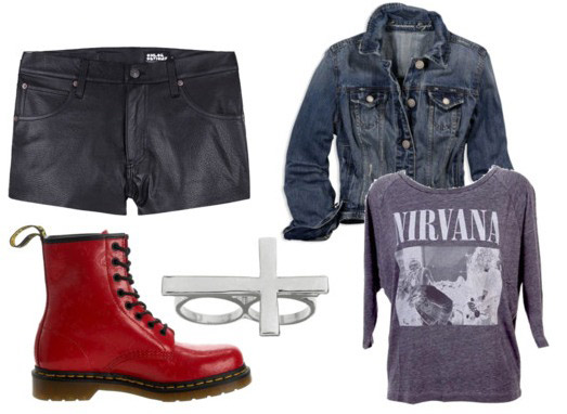 How to wear shorts and boots - rocker chic outfit