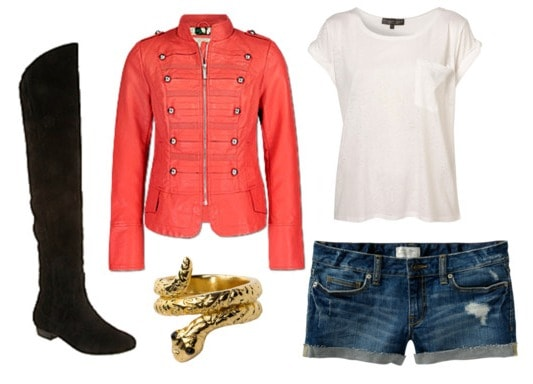 How to wear shorts and boots - springtime outfit