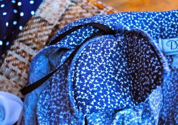 blue shoulder pad