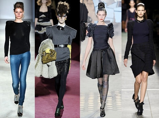 Strong shoulders are a fall 2009 fashion trend