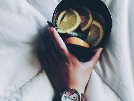 College Fashion CF How To Take Care of Yourself When You're Sick Lemon Tea Hydration
