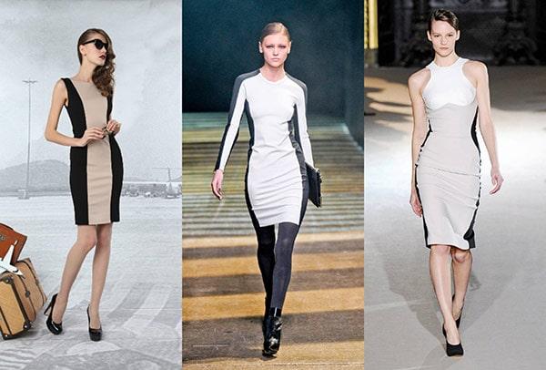 Side stripe dresses