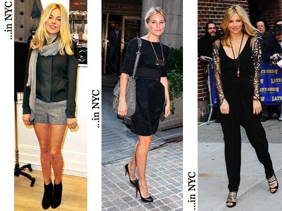 Sienna Miller casual street style