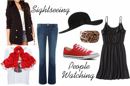Sightseeing people watching outfit