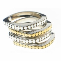 Silver and gold bracelets - mixed metals