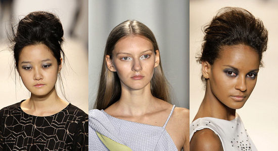 The silver eyeshadow trend on the fall 2010 runways