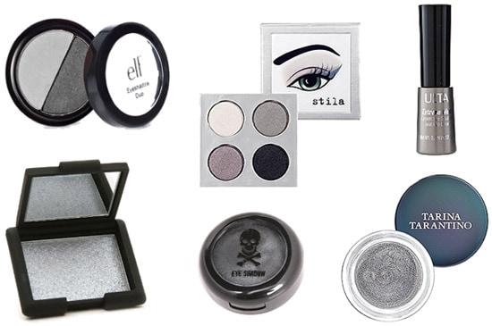 Silver eyeshadows