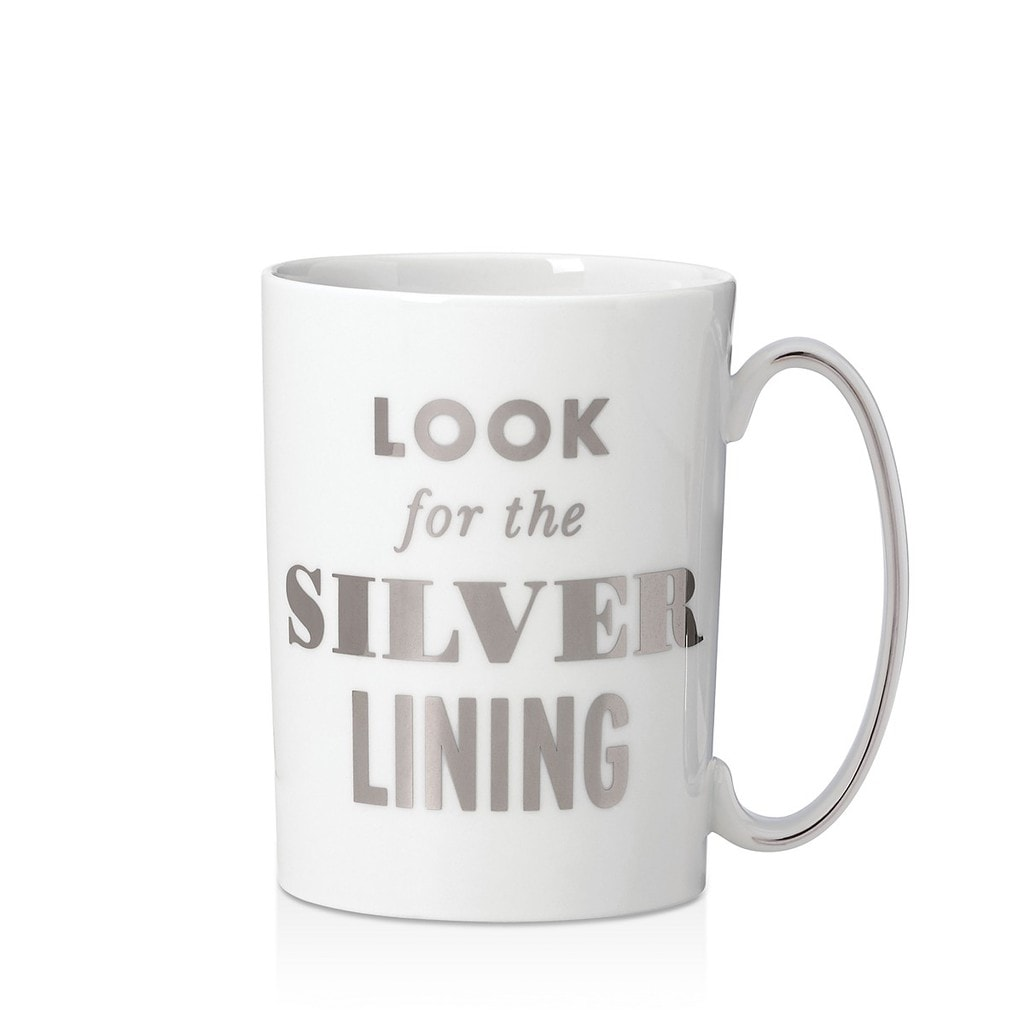 Kate Spade Always Look for the Silver Lining mug