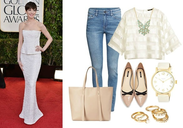 Simple and sweet red carpet look