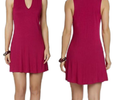 Joe Boxer mock neck skater dress in raspberry pink - available at Kmart