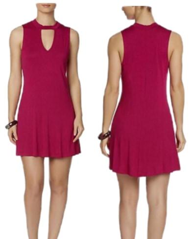 Joe Boxer mock neck skater dress in raspberry pink - available at Kmart