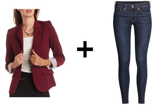 Skinny jeans and fitted blazer easy outfit formulas