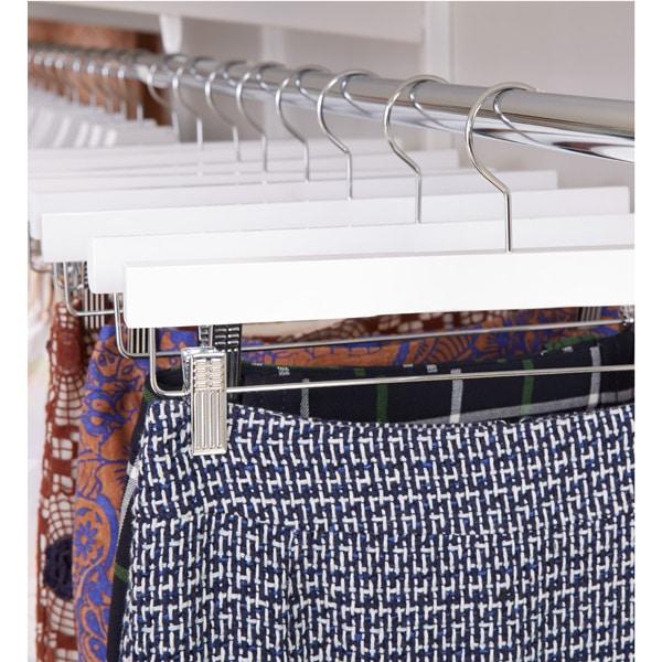 Skirts on hangers - organized closet